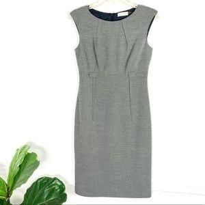 Calvin Klein Belted Sheath Dress Grey Sleeveless 2